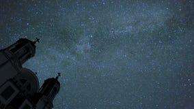 Lapso de tiempo del cielo nocturno almacen de metraje de vídeo