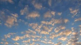 Lapso de tiempo del cielo nublado almacen de video