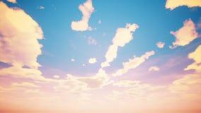 Lapso de tiempo del cloudscape con el sol del verano almacen de metraje de vídeo