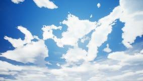 Lapso de tiempo del cloudscape con el sol del verano almacen de video