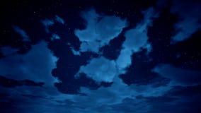 Lapso de tiempo del cloudscape con las estrellas almacen de video