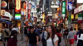 Lapso de tiempo del d3ia del distrito de las compras de Shibuya - Tokio Japón metrajes