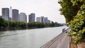 Lapso de tiempo del distrito de Beaugrenelle en París, Francia almacen de metraje de vídeo