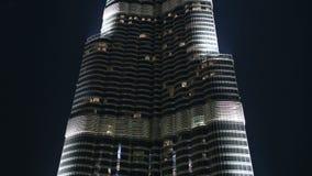 Lapso de tiempo del edificio del khalifa del burj metrajes