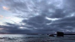 Lapso de tiempo del golfo de Finlandia en diciembre metrajes