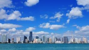 Lapso de tiempo del horizonte de Miami almacen de metraje de vídeo