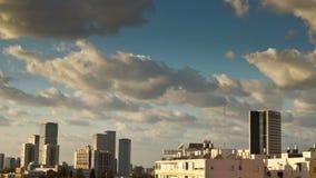 Lapso de tiempo del horizonte de Tel Aviv almacen de video