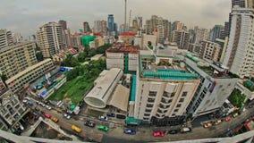 Lapso de tiempo del paisaje urbano de Bangkok almacen de video