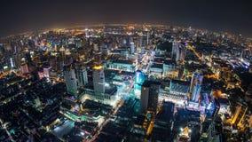Lapso de tiempo del paisaje urbano de Bangkok metrajes