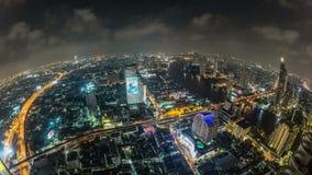 Lapso de tiempo del paisaje urbano de Bangkok Fisheye metrajes