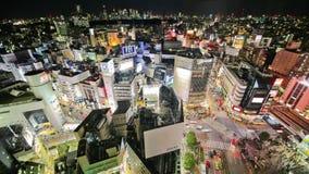 Lapso de tiempo del paisaje urbano de Tokio almacen de metraje de vídeo