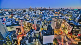 Lapso de tiempo del paisaje urbano de Tokio HDR almacen de metraje de vídeo