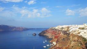 Lapso de tiempo del pueblo de Oia en la isla de Santorini, Grecia almacen de video