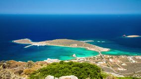 Lapso de tiempo del puerto de Diakofti en la isla de Kythira, Grecia almacen de video