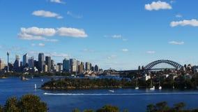 Lapso de tiempo del puerto de Sydney del parque zoológico de Taronga almacen de video
