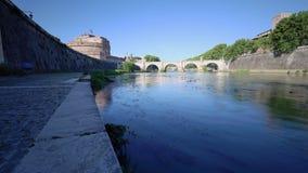 Lapso de tiempo del río de Tíber, Roma, Italia - 4K 30p metrajes