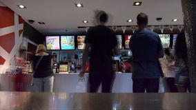 Lapso de tiempo del restaurante de Mcdonalds metrajes