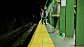 Lapso de tiempo del subterráneo de NYC metrajes