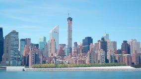 432 lapso de tiempo del tiempo 4k del día de la construcción de edificios de la avenida de parque de Nueva York almacen de metraje de vídeo