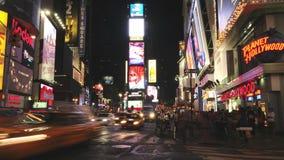 Lapso de tiempo del Times Square - Nueva York - 4K - 4096x2304 almacen de video