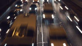 Lapso de tiempo del tráfico de coche almacen de video