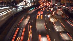 Lapso de tiempo del tráfico de coche metrajes