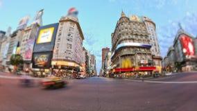 Lapso de tiempo del tráfico de ciudad Buenos Aires metrajes