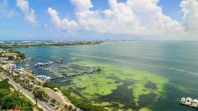 Lapso de tiempo del tráfico de ciudad Cancun