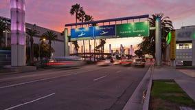 Lapso de tiempo del tráfico de ciudad LAX metrajes