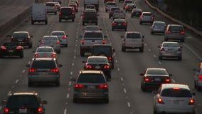 Lapso de tiempo del tráfico de la autopista sin peaje de Los Ángeles - clip 15 metrajes