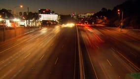 Lapso de tiempo del tráfico de la autopista sin peaje de Los Ángeles - clip 1 metrajes