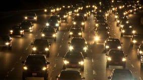 Lapso de tiempo del tráfico de la autopista sin peaje de Los Ángeles - clip 20 almacen de video