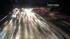 Lapso de tiempo del tráfico de la autopista sin peaje de Los Ángeles - clip 32 almacen de video