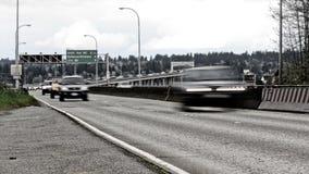 Lapso de tiempo del tráfico de la carretera 520 de Seattle almacen de video