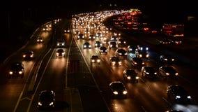 Lapso de tiempo del tráfico de la hora punta de la tarde en Los Ángeles almacen de video