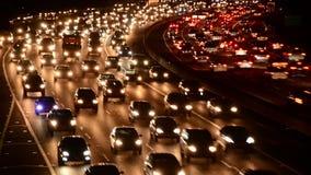 Lapso de tiempo del tráfico de la hora punta de la tarde en Los Ángeles metrajes