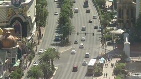 Lapso de tiempo del tráfico de la tira de Las Vegas - clip 2 almacen de metraje de vídeo