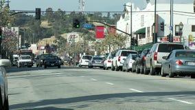 Lapso de tiempo del tráfico de Los Ángeles Chinatown - clip 2 almacen de video