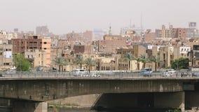Lapso de tiempo del tráfico de El Cairo almacen de metraje de vídeo