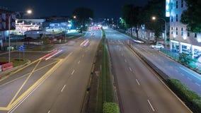 Lapso de tiempo del tráfico en la noche, 4k metrajes