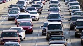 Lapso de tiempo del tráfico en Los Ángeles céntrico - 4K metrajes