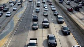 Lapso de tiempo del tráfico en Los Ángeles céntrico - 4K almacen de video