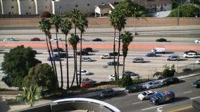 Lapso de tiempo del tráfico en Los Ángeles durante hora punta metrajes