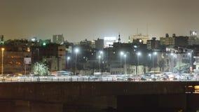 Lapso de tiempo del tráfico de la noche de El Cairo almacen de video