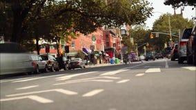 Lapso de tiempo del tráfico de New York City almacen de metraje de vídeo