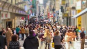 Lapso de tiempo del tráfico peatonal de la ciudad Bruselas metrajes