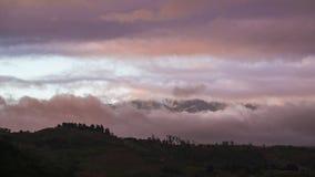 Lapso de tiempo del volcán de Irazu