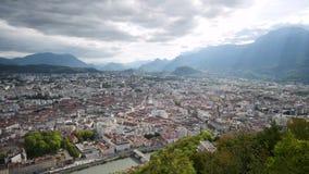 Lapso de tiempo en Grenoble, Francia almacen de video