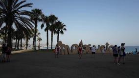 Lapso de tiempo en la playa de Malagueta almacen de video