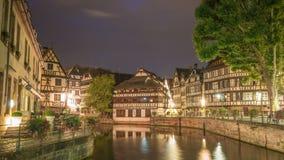 Lapso de tiempo de Estrasburgo Francia almacen de metraje de vídeo